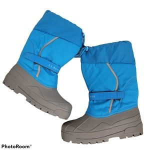 Kids LL Bean Northwoods Snow Boots Teal Size 10
